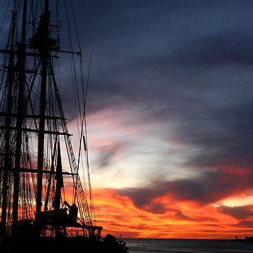 Tall Leeuwin Sunset by aries67