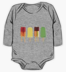 Ice lollies on black One Piece - Long Sleeve