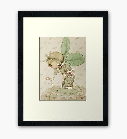 little leaf fairy Framed Print