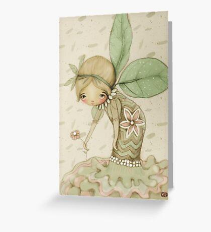 little leaf fairy Greeting Card