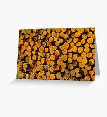 Fire wood Greeting Card