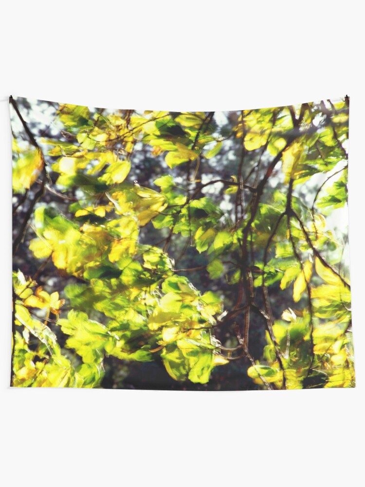 Leaves Blowing In The Wind Tapestry By Jondelorme Redbubble