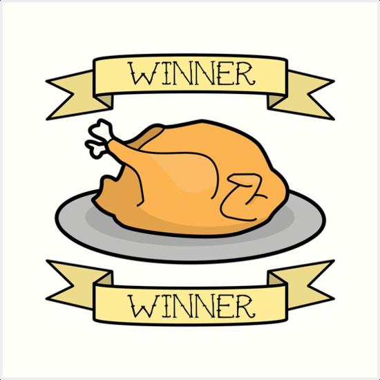 winner winner chicken dinner art prints by emsk redbubble