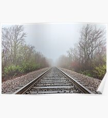 Spring time railroad tracks Poster