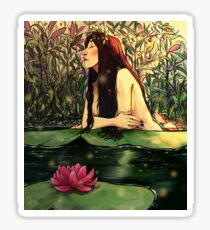 Lady of the pond Sticker