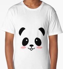 Cute Panda Long T-Shirt