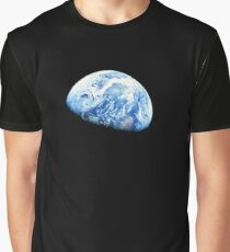 EARTH, PLANET, SPACE, Blue planet, Earthrise, Apollo 8, 1968 Graphic T-Shirt