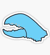 Blue Lobster Claw Sticker