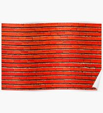 Red Bricks Wall Background Texture Poster