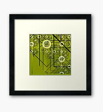 Green Geometry Framed Print