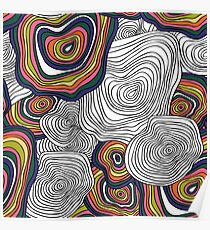 abstract wavy pattern Poster
