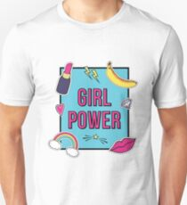 """Girl Power"" with cute fashion patch badges Unisex T-Shirt"