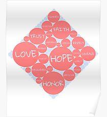 Human virtue diamond Poster