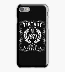 Vintage Made In 1971 Birthday Gift Idea T Shirt iPhone Case/Skin
