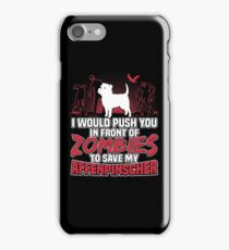 Affenpinscher Save My Dog Zombies funny gift t-shirts iPhone Case/Skin