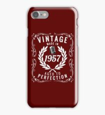 Vintage Made In 1957 Birthday Gift Idea T Shirt iPhone Case/Skin