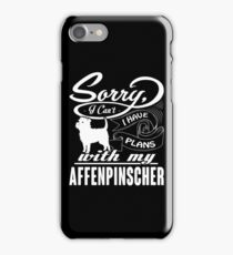 Affenpinscher plans with my Dog funny gift t-shirts iPhone Case/Skin
