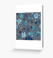 colorful flowers pattern Greeting Card