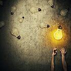 light bulbs juggling by psychoshadow