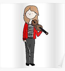 Violin Girl - Red Jacket Poster