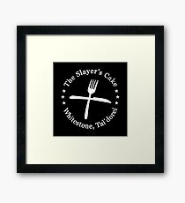 THE SLAYER'S CAKE (White) - Critical Role Un-Official Fan Design Framed Print
