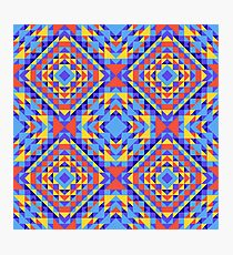 Ethnic geometric pattern with elements of traditional tribal folk style.  Photographic Print