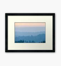 Smoke Haze Framed Print