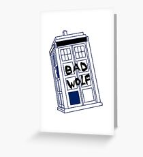 Doctor Who Bad Wolf Greeting Card