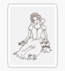 Princess and her friends  Sticker