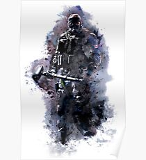 Rainbow Six Siege Sledge Watercolor Poster