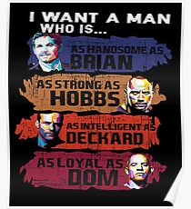 I Want a Man Who is The Fate of The Furious Poster