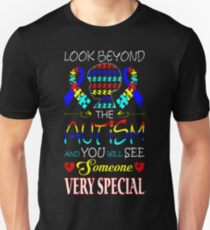 Look Beyond Autism See Very Special Awareness Tee T-Shirt  Unisex T-Shirt