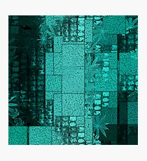 Blue Blocks Photographic Print