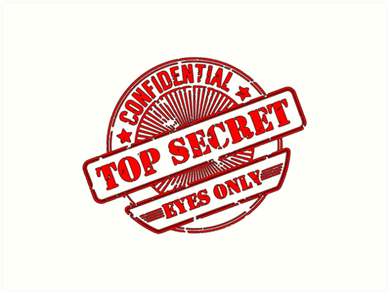 Top Secret Eyes Only Confidential Stamp