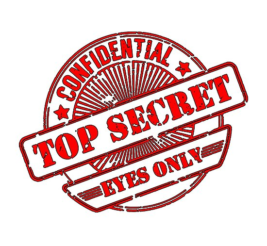 Top Secret Eyes Only Confidential Stamp By TOM HILL