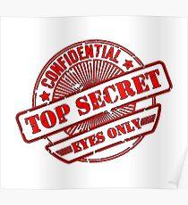 Top Secret, Eyes Only, Confidential, Secret, Stamp Poster