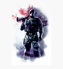 Rainbow Six Siege Smoke Watercolor Photographic Print