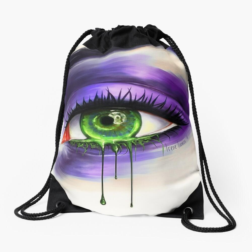Green Eye Drawstring Bag