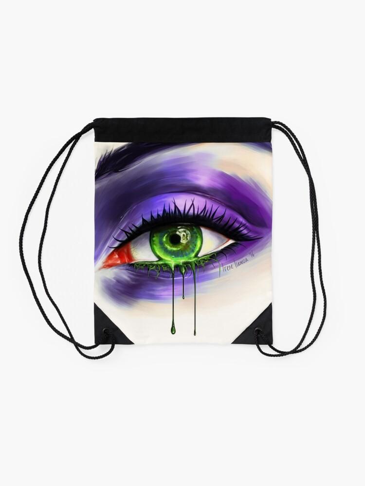 Alternate view of Green Eye Drawstring Bag
