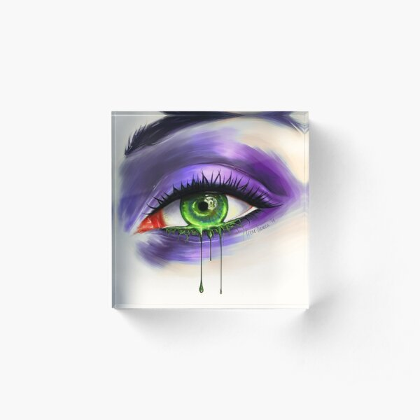 Green Eye Acrylic Block