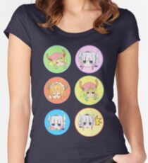 Maid dragon pattern  Women's Fitted Scoop T-Shirt
