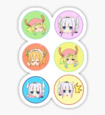 Maid dragon pattern  Sticker