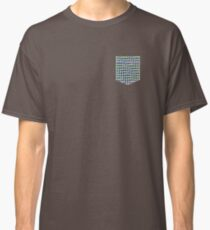 Optic Illusion Pattern Pocket T-shirt Green & Blue Classic T-Shirt