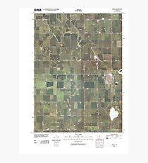 USGS TOPO Maps Iowa IA Jewell 20100517 TM Photographic Print