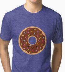 Happy Sprinkles Donut on pink polka Tri-blend T-Shirt
