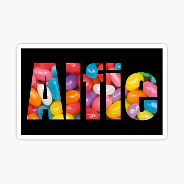 Alfie -- personalized gifts Sticker