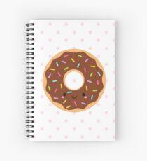 Happy Sprinkles Donut on pink polka Spiral Notebook