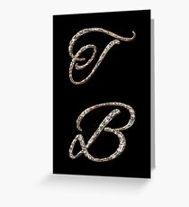 Initials T and B with diamond look Greeting Card