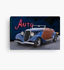 1934 Ford 'Auto Repair' Roadster Canvas Print