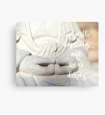 Buddha Hands | Yoga | Inspirational Metal Print